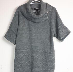 Lanebryant 100% Acrylic Zip Up Grey Top Size 18/20